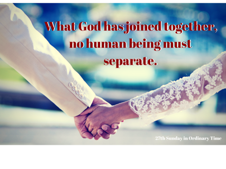 Therefore what God has joined together, no human being must separate.